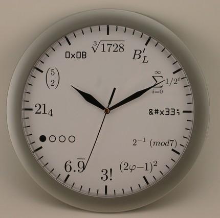 orologio geek matematica